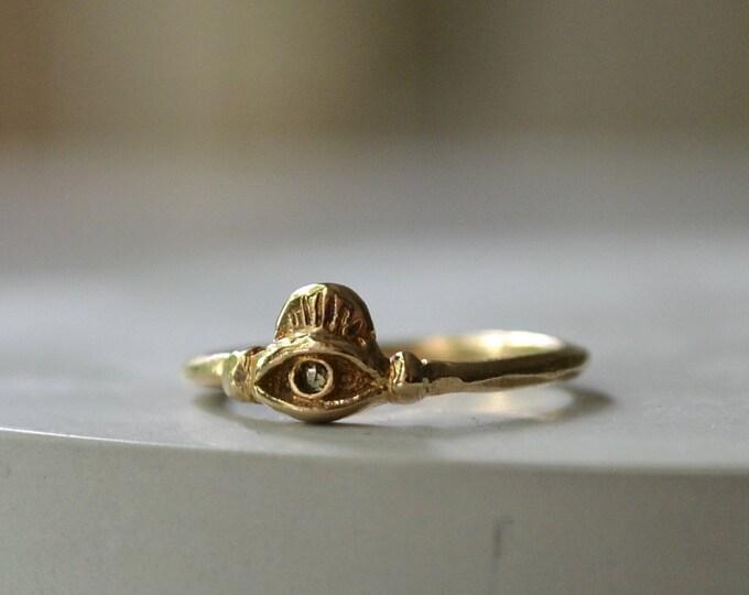 Diamond eye ring, size 4.5