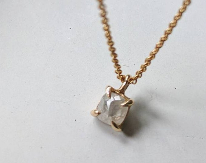 Rustic diamond pendant