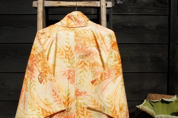 Floral Kimono, Japanese Vintage Robe, Wedding Dres