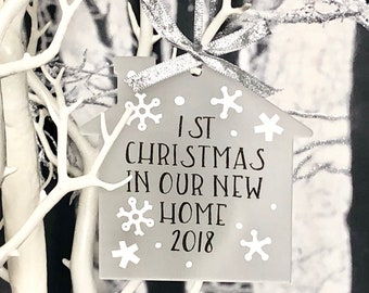 New Home, First Christmas, Christmas Decoration, Tree Ornament, 1st Christmas In Or New Home, House Warming Gift, Rustic Home, Country Style