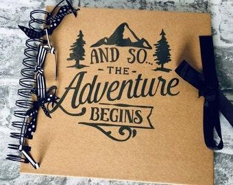 Travel Scrapbook, Photo Album, Gap Year Gift, University Leaver, Fresher, Retirement Present, Leaving Gift, Wedding Present, New Home Gift