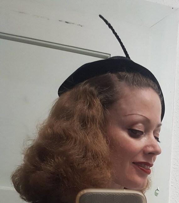 1930s 30s vintage half hat great cocktail hat holl