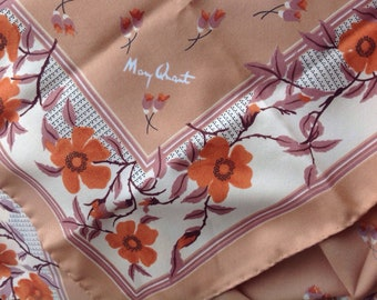 Original Mary Quant signed Scarf  - just fab vintage !