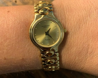 1864a6831 Raymond Weil Torca 18k Gold EP Ladies Dress Watch