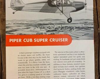 Piper cub airplane   Etsy