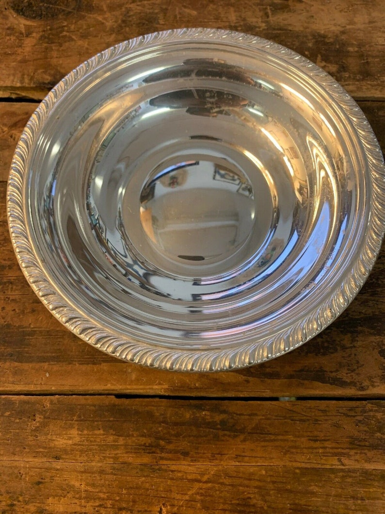 Vintage Sterling Silver Candy Dish Nut Bowl By Manchester 6 inch