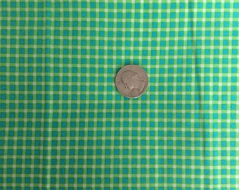 Green cotton Fabric, green check fabric