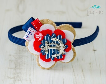 Sailor girl hairband, By the sea hairband,