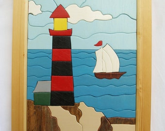 A Beautiful Day on the Water - - Intarsia - Woodwork