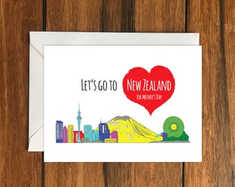 New Zealand Cards Etsy