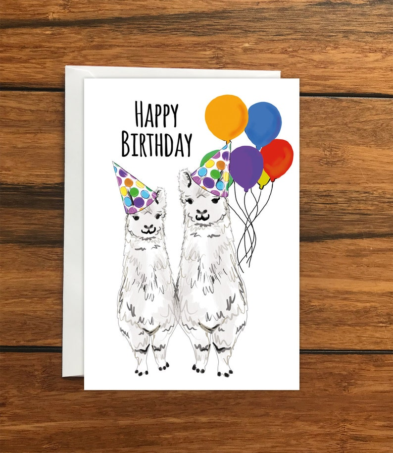 blank greetings Cat birthday card drawn and printed in UK