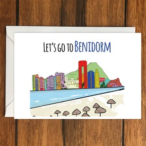 A6 Holiday Gift Idea Let/'s go to Milan for your Birthday blank greeting card