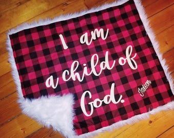 Child of God faux fur blanket