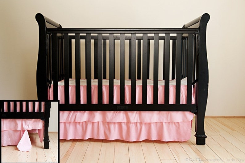 Unique Crib Skirting made with soft baby cordoroy. Easy image 0