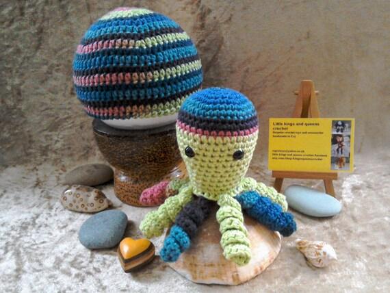 Bio-Baumwolle gehäkelte Krake und Hut set Frühgeburt weichen | Etsy