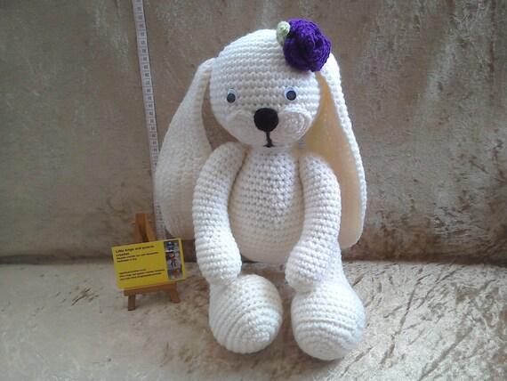 Kinder Ostergeschenk häkeln weißer Hase große Füße Hase | Etsy