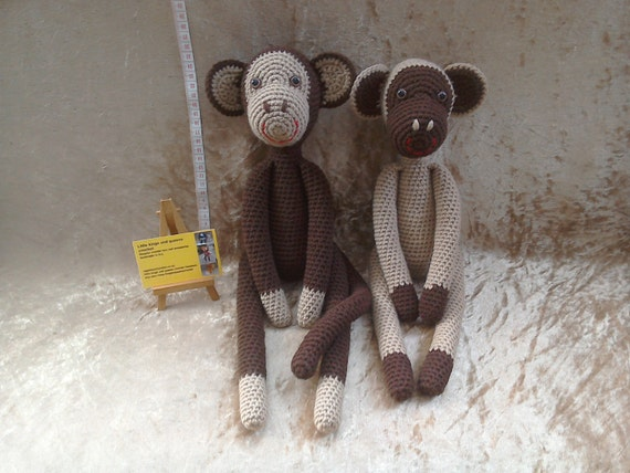 Affe Spielzeug weiche Affe Affe häkeln häkeln Spielzeug | Etsy