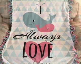 f8e0b2d3a08c Whale fleece blanket