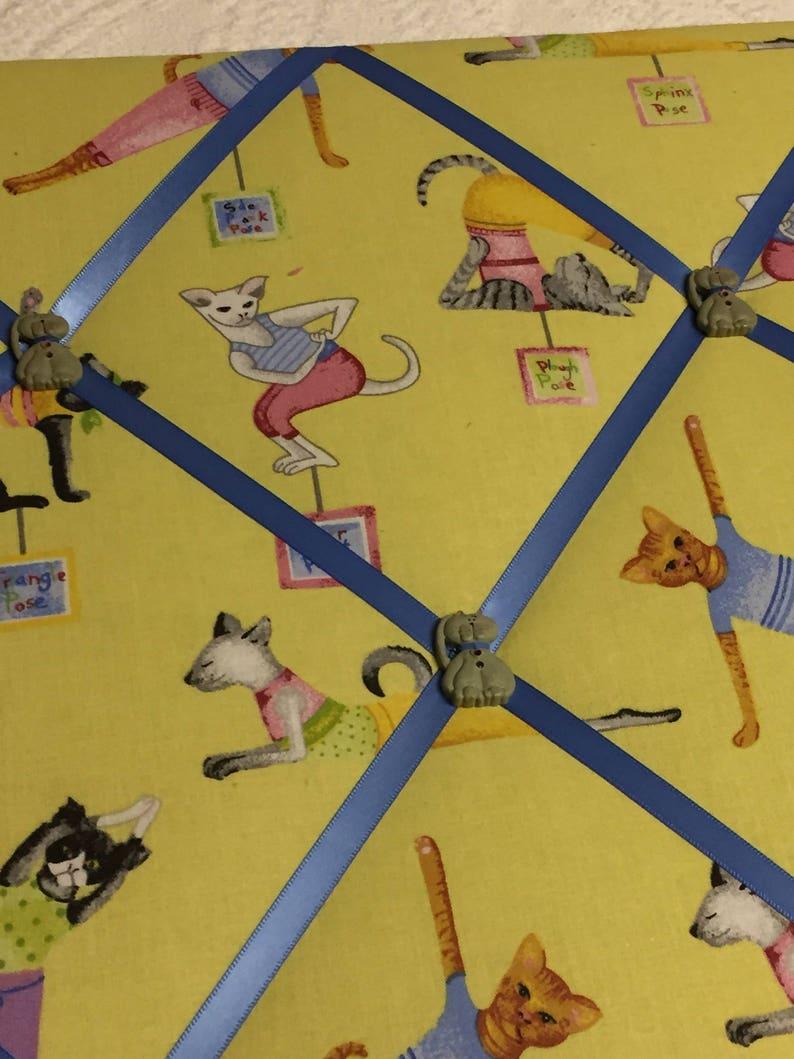 Exercise memory board Yoga cats memory board