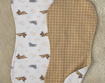 Bambi burp cloth set, Gender neutral burp cloth set