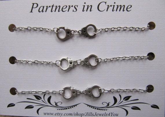 friendship bracelet set Friendship bracelet Best friend gift birthday gift Partners in crime bracelet set Gift for friend