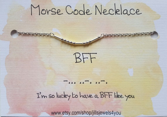 Cute Christmas Gifts For Bff.Bff Best Friend Gift Morse Code Necklace Friendship Necklace Best Friend Gift For Her Christmas Present Cute Best Friend Gift Necklace
