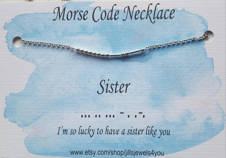 Schwester Morse-Code Schwester-Kette Morsecode Schmuck | Etsy