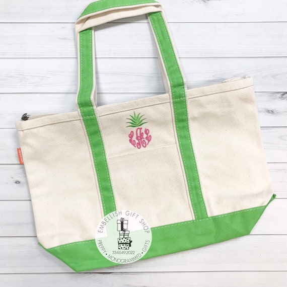 Teacher Gifts Boat Tote Monogrammed Tote Bags Bridesmaid Gifts Canvas Zipper Personalized Boat Tote Bridal Party Gifts