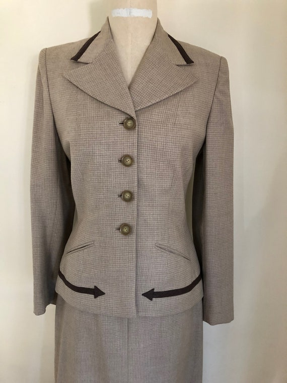 40's Womans Suit Tapered Jacket 2 pc Jacket and S… - image 2