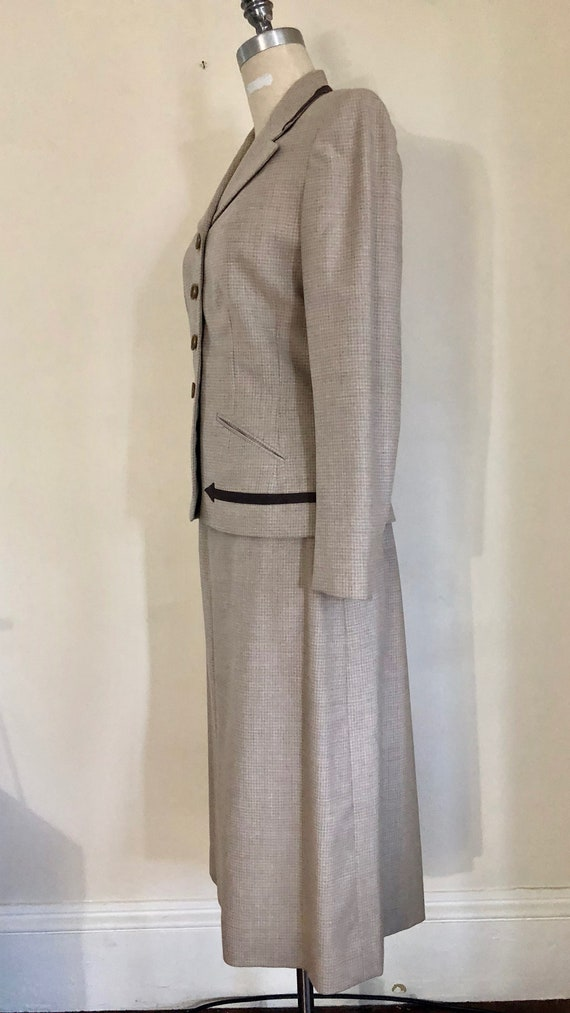 40's Womans Suit Tapered Jacket 2 pc Jacket and S… - image 4