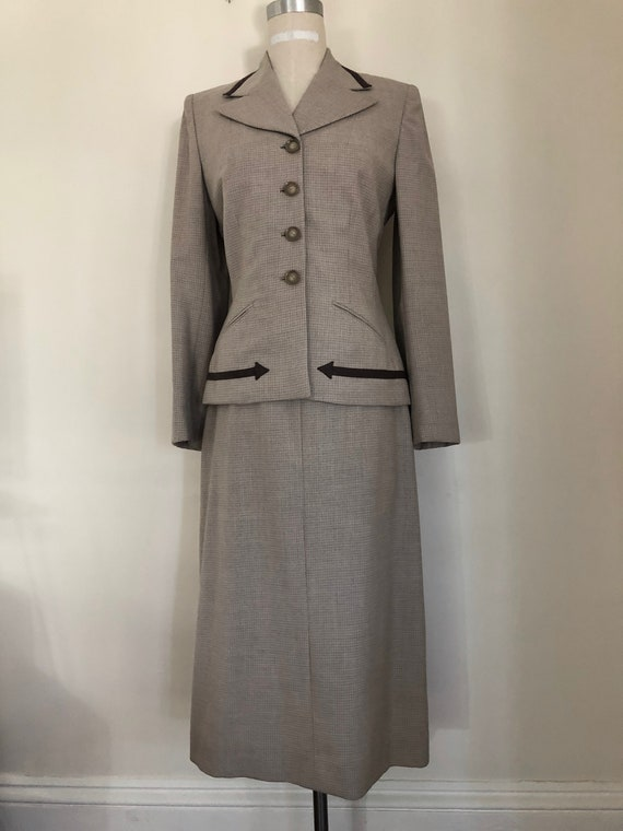 40's Womans Suit Tapered Jacket 2 pc Jacket and S… - image 1