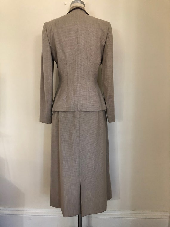 40's Womans Suit Tapered Jacket 2 pc Jacket and S… - image 6