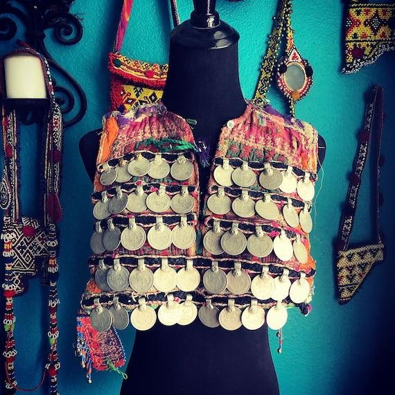 Beaded Kuchi dress component. (DIRTY).