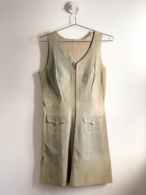 Suede Zipper Dress, Long Vest