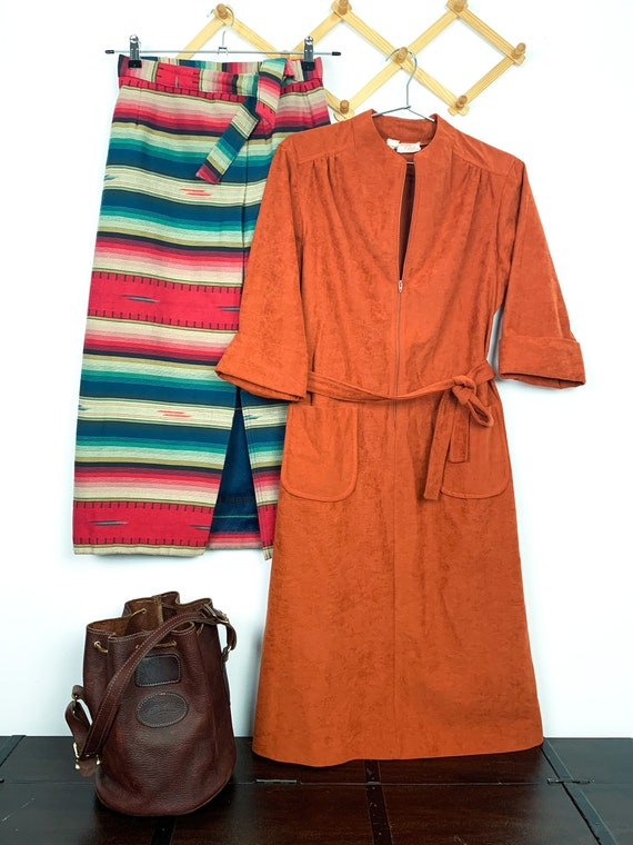 1970s Belted Shift Dress with Pockets