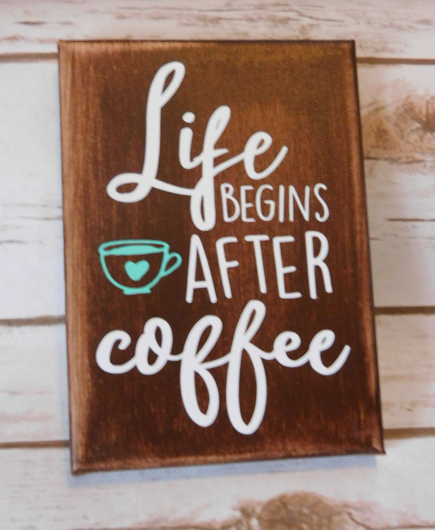 Coffee Decor Live Begins After Coffee Funny Coffee Quotes Etsy