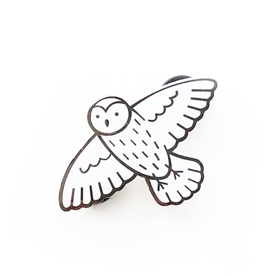 Harry Potter Hedwig Owl Metal Pin Badge