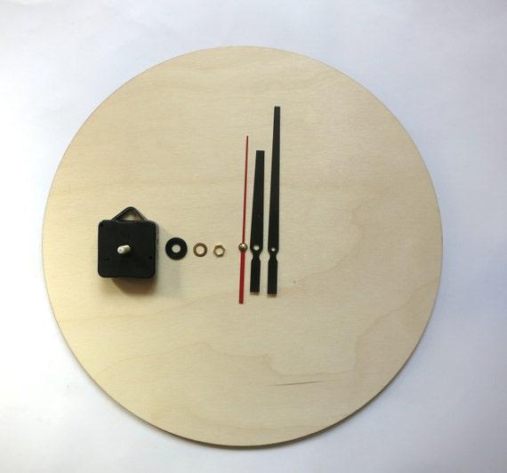 Clock Kit Diy Wall Clock Kit 16 40cm Diy Clock Wood Etsy