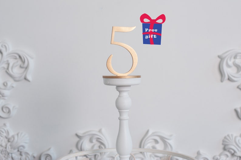 Wedding table numbers Gold Table Numbers Plain wood Wedding image 0