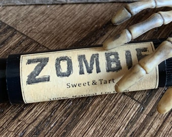 Zombie 100% Natural Lip Balm/Halloween/Sweet/Tart