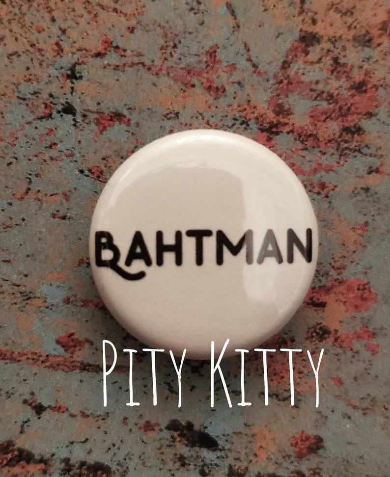 1 inch Button  Bahtman  Annie & David  90DF inspired image 0