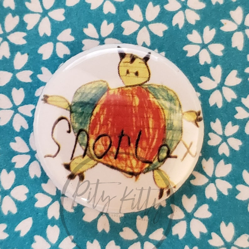 1 inch Button  Sleepy Snorlax  Pokémon inspired image 0