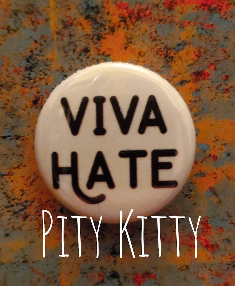 1 inch Button  Viva Hate plain  Morrissey inspired image 0