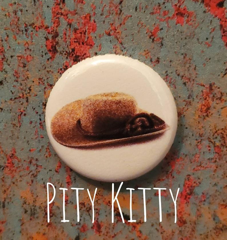 1 inch Button  Mama de Chantel's Tiny Cowboy Hat  Pedro image 0