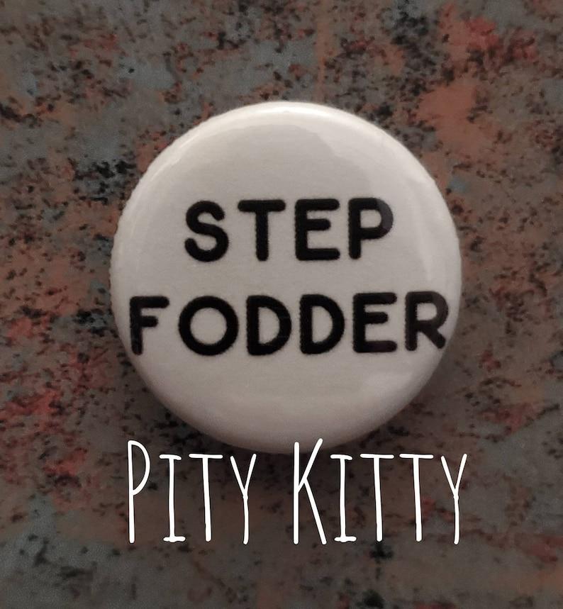 1 inch Button  Step Fodder  Darcy & Jesse  90DF inspired image 0