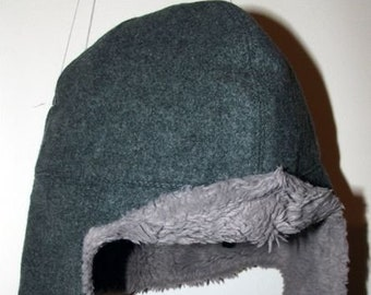 afabb6f86f0 Vintage Swiss military army winter wool denim hat LUpress