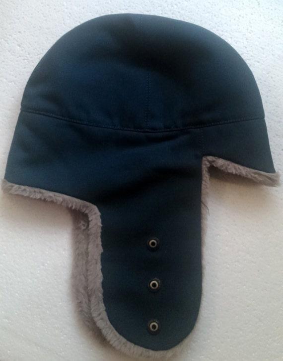 vintage Swiss military army winter wool denim hat LUpress  f3a8b5fb91f