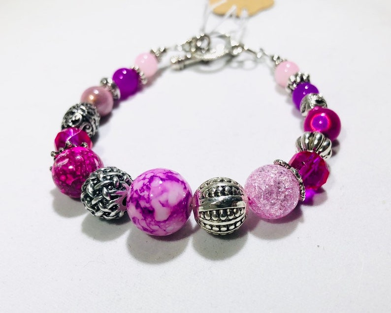 Magenta Bauble Bracelet