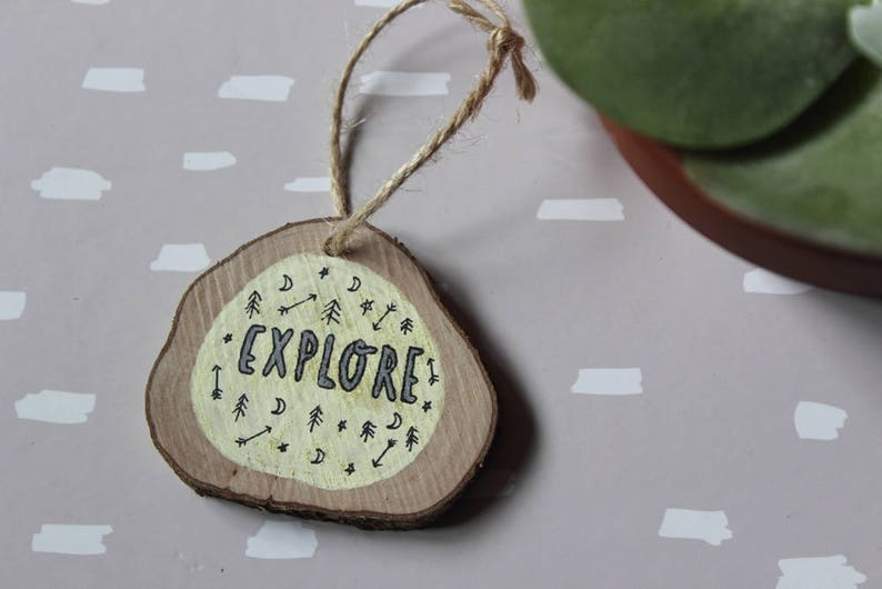 Explore Small Wooden Sign. Wall Hanging. Hand drawn and image 0