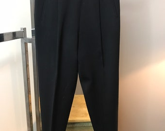 American Vintage Clothing Vintage 1950\u2019s Marching Band Classic Wool Trousers 1950/'s Vintage trousers Party Made in USA Beige